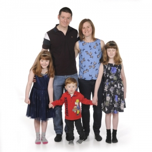 Claire Hanson and family