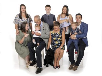 Elizabeth Holdsworth and family